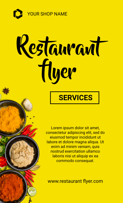 Restaurant flyers US Legal template