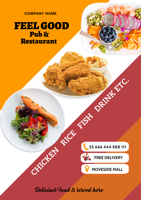 Restaurant Food 22 A2 template