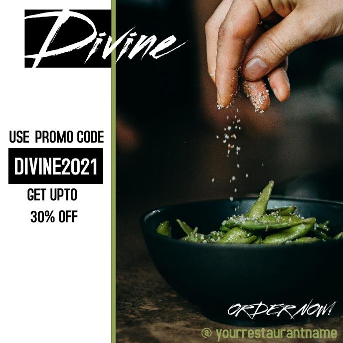 Restaurant/Food ad template Capa de álbum