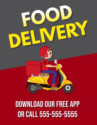 RESTAURANT FOOD DELIVERY FLYER TEMPLATE