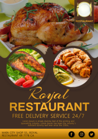 Restaurant food A4 template