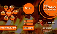 Restaurant food point grand opening discount VSA Wetlik template