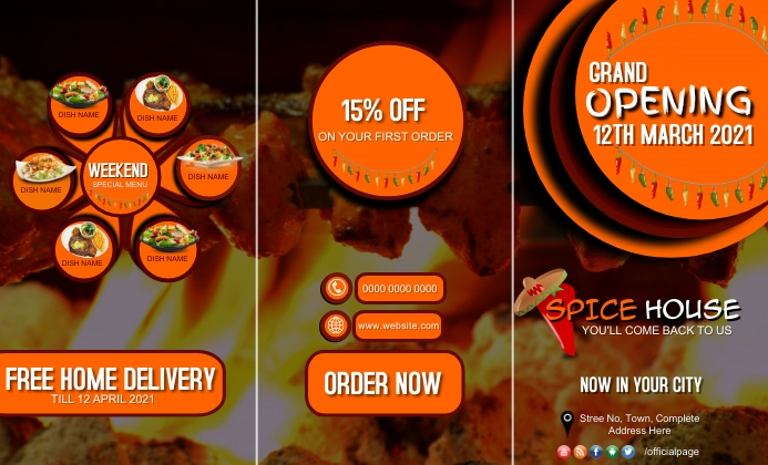 Restaurant food point grand opening discount US Legal template
