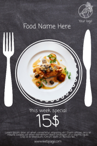 Restaurant Food Sale Free flyer template