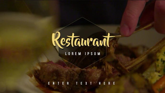 Restaurant/Food Video Template
