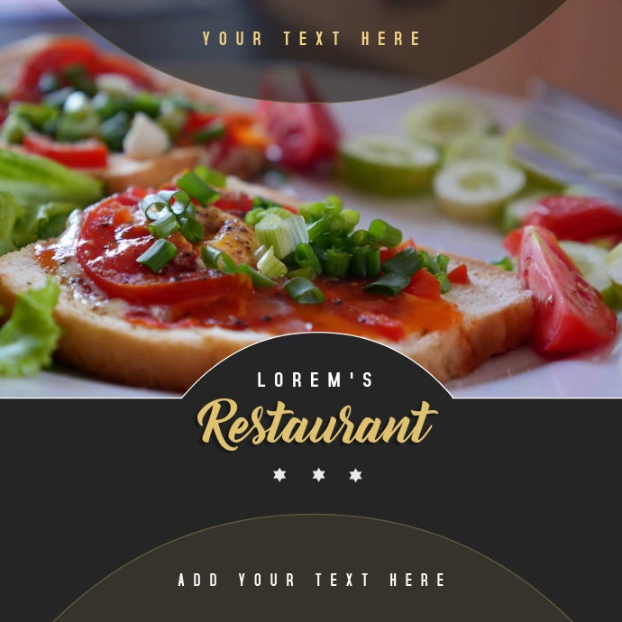 Restaurant Food Video Template
