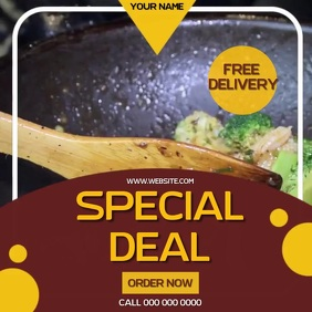 RESTAURANT FREE DELIVERY AD SOCIAL MEDIA