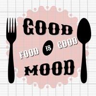 Restaurant Good Food Logo โลโก้ template