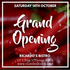 Restaurant Grand Opening Instagram Video Template