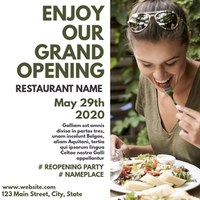 restaurant grand opening instagram post