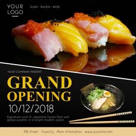 Restaurant Grand Opening Square Video