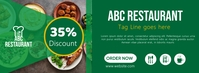 Restaurant Green Food Discount Facebook Cover template
