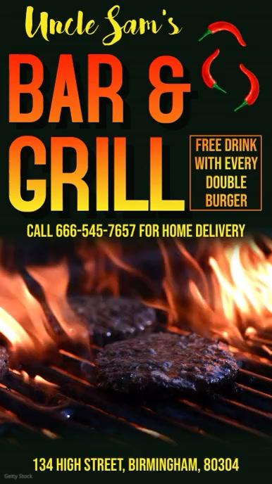 Restaurant Grill BBQ Digital Template