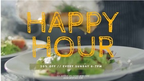 Restaurant happy hour video promotion template facebook