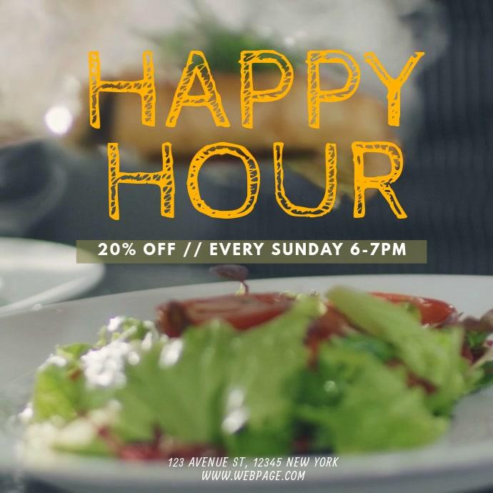 restaurant happy hour video promotion template instagram
