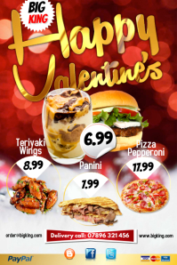 Restaurant Happy Valentine's Poster