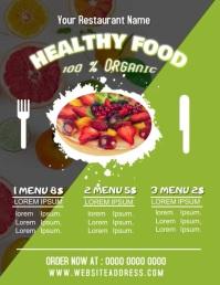 Restaurant Healthy Food Menu Flyer Poster Ani Volante (Carta US) template