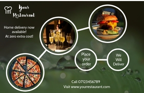 Restaurant Home Delivery Tabloid template