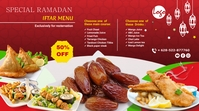 Restaurant Iftar Offer Flyer Twitch Banner template
