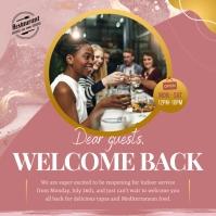Restaurant Indoor Dining Annoucement Instagra Instagram-bericht template