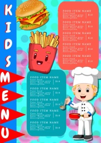 Restaurant Kids food Menu Template