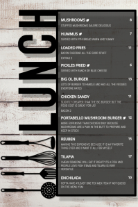 RESTAURANT LUNCH MENU Poster template