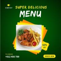 Restaurant Menu Banner Design Template Instagram-opslag
