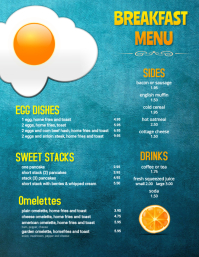Restaurant Menu Breakfast Brunch Flyer