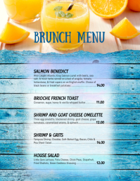 Restaurant Menu Breakfast Brunch Flyer