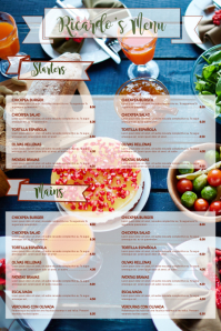 Restaurant Menu Customizable Template