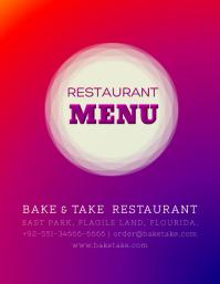 Restaurant Menu (Front / Cover Design)