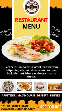 Restaurant Menu Digitale Vertoning (9:16) template