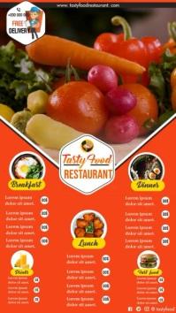 Restaurant Menu Affichage numérique (9:16) template