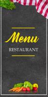 Restaurant Menu Design Template Roll Up Banner 3' × 6'