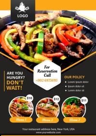 Restaurant Menu A4 template