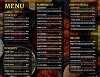 restaurant menu digital display Flyer (format US Letter) template