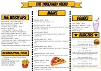 restaurant menu flyer A3 template