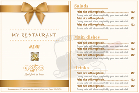 Restaurant Menu Flyer - Golden