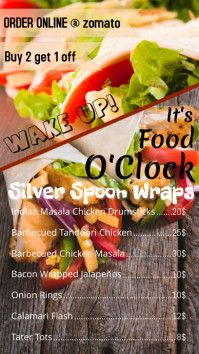 restaurant menu/flyer template design