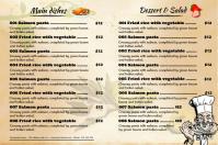 Restaurant menu flyer - Clean design