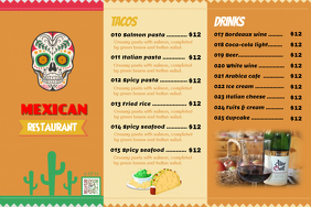 Restaurant menu - Mexican dishes (Trifold)