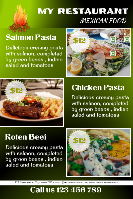 Customizable Design Templates for Restaurant Poster | PosterMyWall