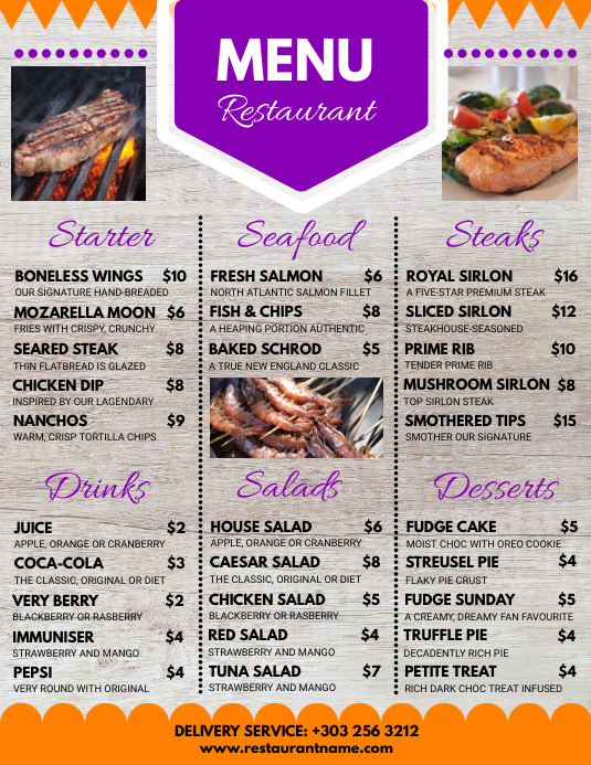 Restaurant Menu Restaurant Flyer