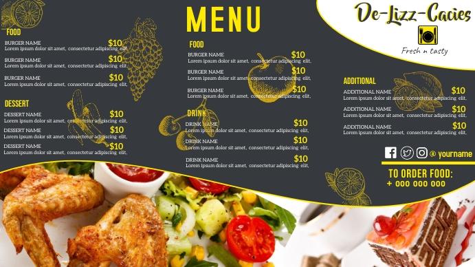 Restaurant Menu Template Digitale Vertoning (16:9)