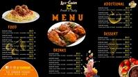 Restaurant Menu Template Digital Display (16:9)