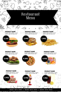 Restaurant Menu template with pictures photos
