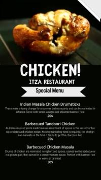 restaurant menu/video flyer