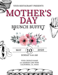Restaurant Mother's Day Flyer Template