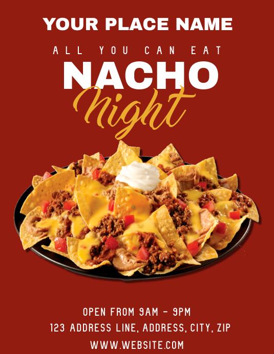 Restaurant Nacho Night ad Flyer Template