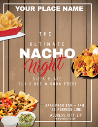 Restaurant Nacho Night ad Flyer Template